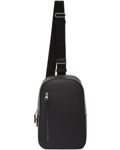 Czarna torebka skórzana Dunhill