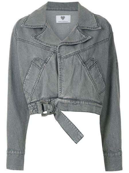 Хлопковая серая куртка Andrea Bogosian
