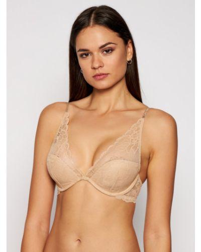 Biustonosz - beżowy Calvin Klein Underwear
