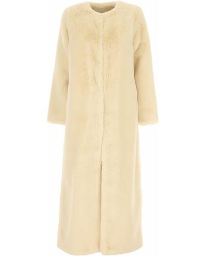 Biały płaszcz z długimi rękawami Twin Set By Simona Barberi