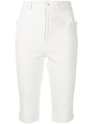 Белые с завышенной талией шорты в полоску Comme Des Garçons Pre-owned
