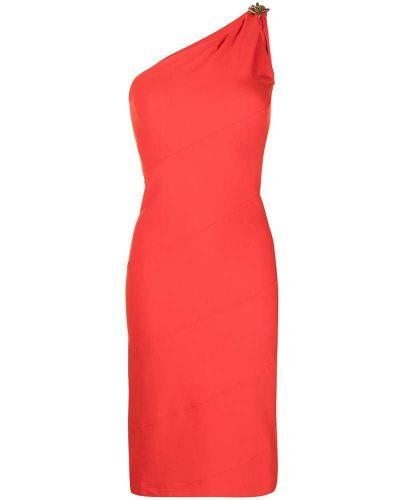 Pomarańczowa sukienka bez rękawów Givenchy
