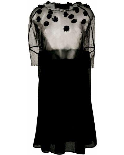 Платье мини сетчатое черное Rundholz