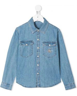 Джинсовая рубашка на пуговицах Calvin Klein Kids