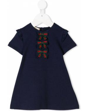 Sukienka mini chudy sukienka koszula Gucci Kids