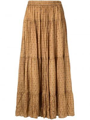 Плиссированная юбка в горошек с поясом Mes Demoiselles