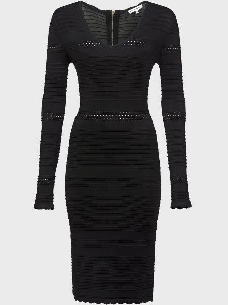 Черное платье из вискозы на молнии Silvian Heach
