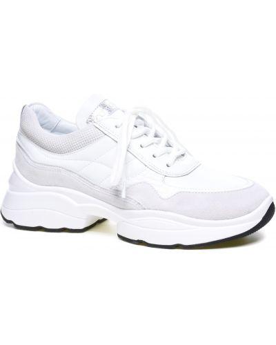 Кожаные кроссовки - белые Corso Vito