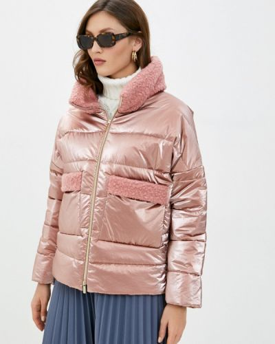 Утепленная розовая куртка Anna Verdi