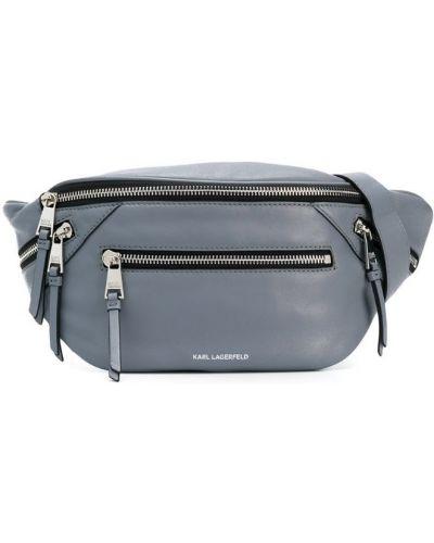 Поясная сумка серая Karl Lagerfeld