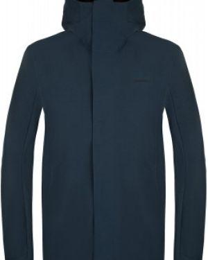 Прямая синяя куртка с капюшоном на молнии с карманами Merrell