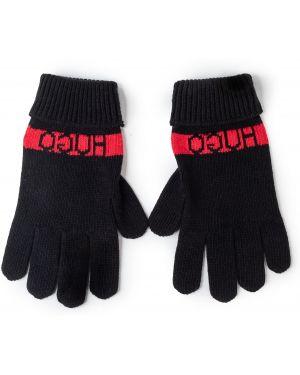 Z kaszmiru czarne rękawiczki Hugo
