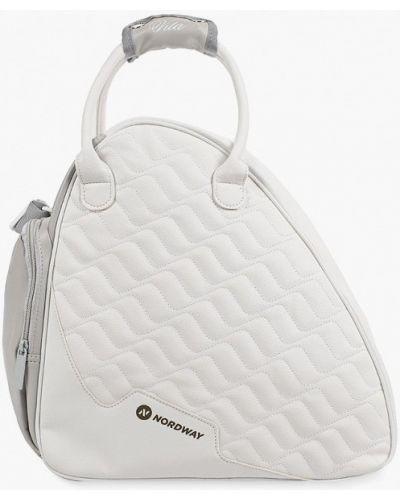 Кожаная белая спортивная сумка Nordway