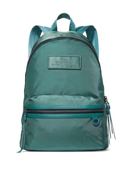 Zielony z paskiem plecak z łatami przeoczenie Marc Jacobs