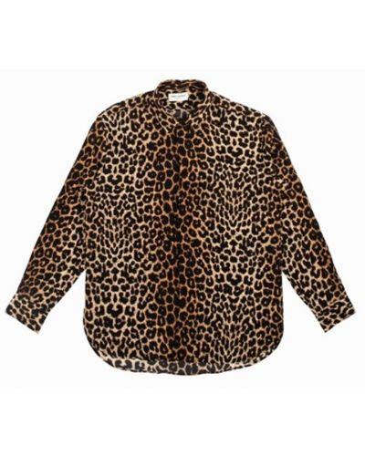 Koszula oversize - brązowa Saint Laurent