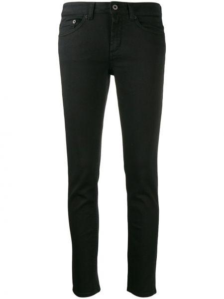 Черные джинсы-скинни с низкой посадкой с поясом Dondup