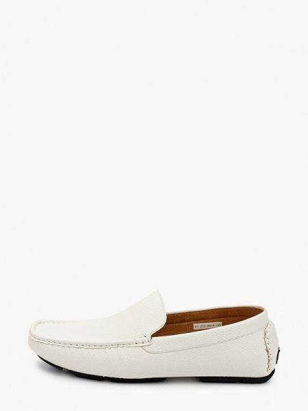 Белые кожаные мокасины Paolo Conte
