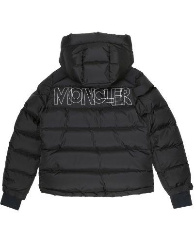 Puchaty czarny kurtka Moncler Enfant