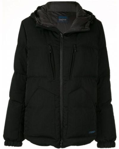Драповая черная длинная куртка Yohji Yamamoto