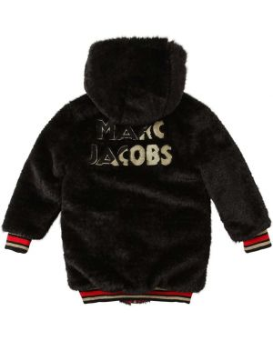 Куртка с капюшоном в клетку нейлоновая Little Marc Jacobs