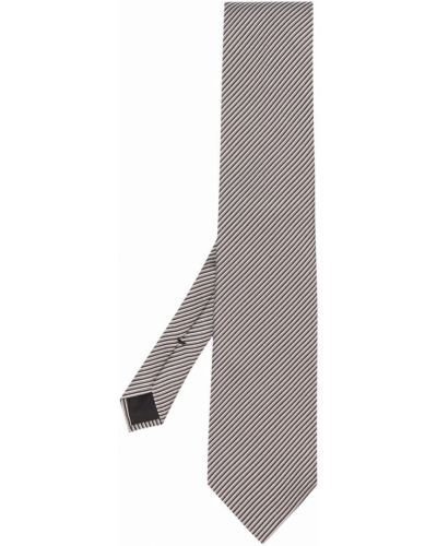 Krawat srebrny - czarny Tom Ford