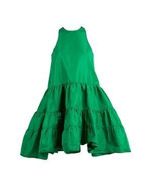 Зеленое повседневное платье No.21