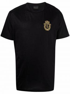 Хлопковая черная футболка с короткими рукавами Billionaire