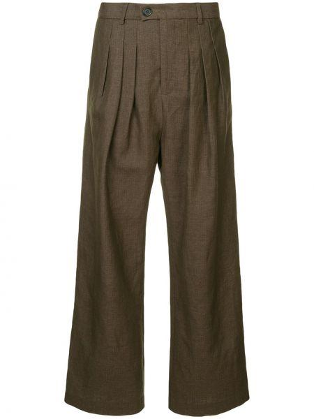 Шерстяные брюки - коричневые Strateas Carlucci