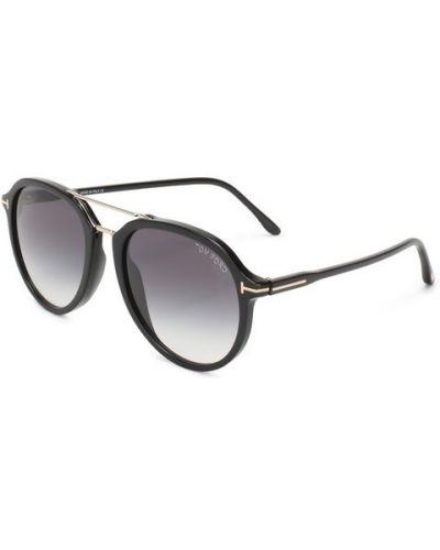 Солнцезащитные очки черные с градиентом Tom Ford