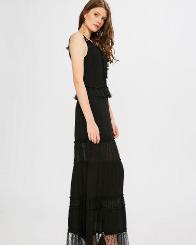 Черное платье макси Silvian Heach