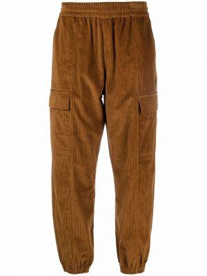 Spodnie sztruksowe - brązowe Marcelo Burlon County Of Milan