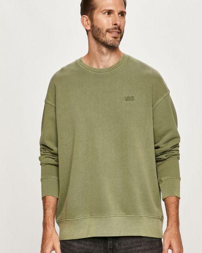 Zielona bluza z kapturem bawełniana Levi's