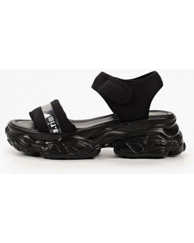 Черные кожаные сандалии Diora.rim