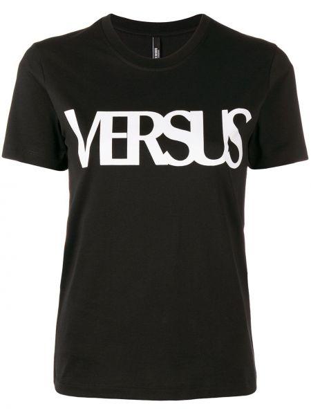 Хлопковая футболка - черная Versus