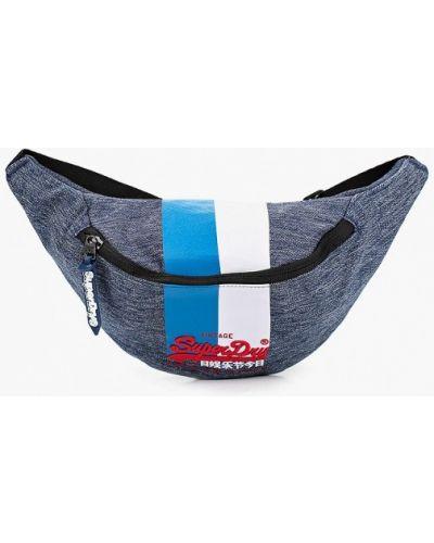 Синяя поясная сумка Superdry