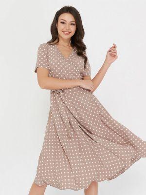 Платье миди бежевое A.karina