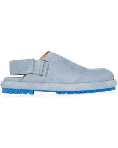 Niebieski skórzany sandały Jacquemus