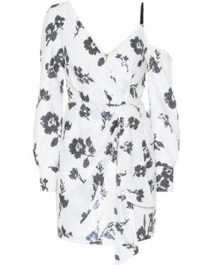 Платье мини с пайетками с цветочным принтом Self-portrait