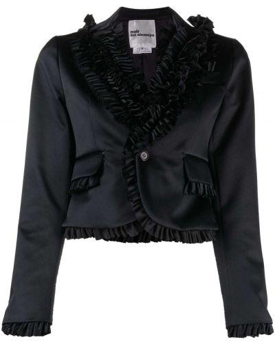 Черный удлиненный пиджак на пуговицах со вставками Comme Des Garçons Noir Kei Ninomiya