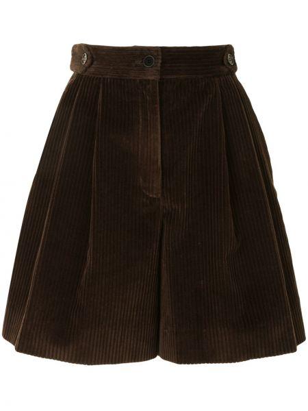 С завышенной талией шорты вельветовые на молнии Dolce & Gabbana