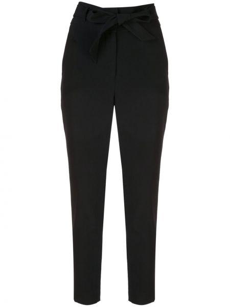 Черные брюки с карманами скинни из вискозы Veronica Beard