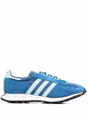 Кожаные кроссовки - синие Adidas