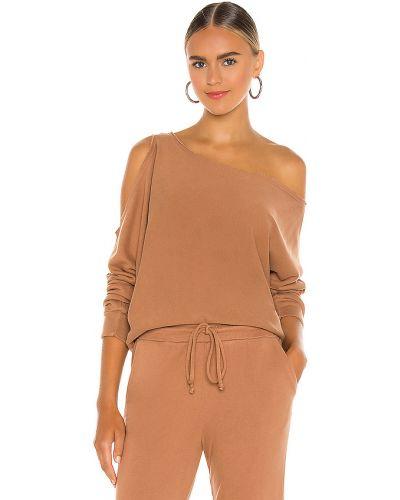 Bawełna bawełna brązowy pulower z dekoltem Lanston