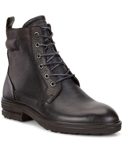 Кожаные ботинки осенние коричневые Ecco