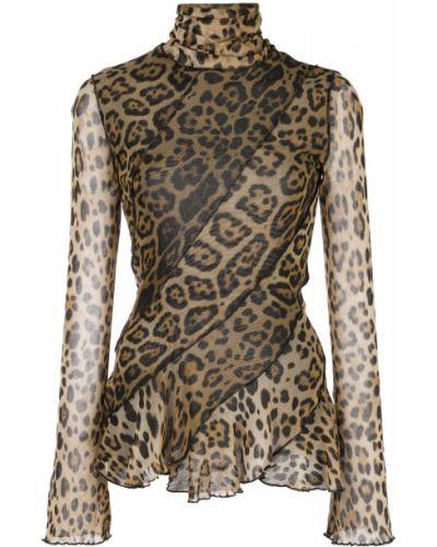 Джемпер леопардовый коричневый Fuzzi