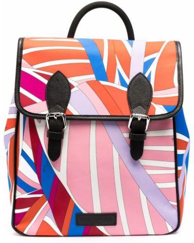 Розовый рюкзак с подкладкой с рисунком Emilio Pucci Junior