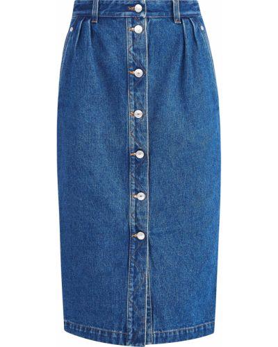 Джинсовая юбка - синяя Alexander Terekhov