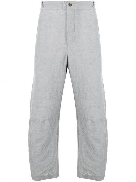 Свободные деловые брюки с поясом на пуговицах Forme D'expression