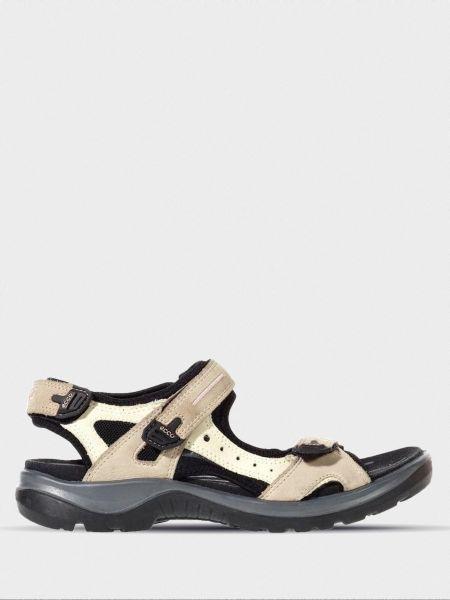 Кожаные сандалии - бежевые Ecco
