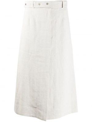 Белая юбка миди на пуговицах Mrz